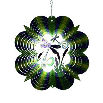 windspiel libelle im teich 3D multicolor