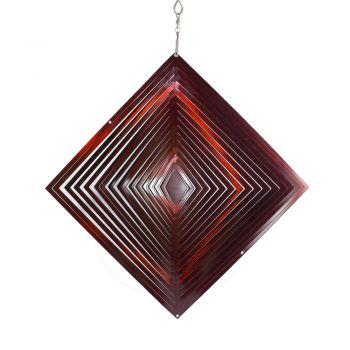 Windspiel Viereck Rot
