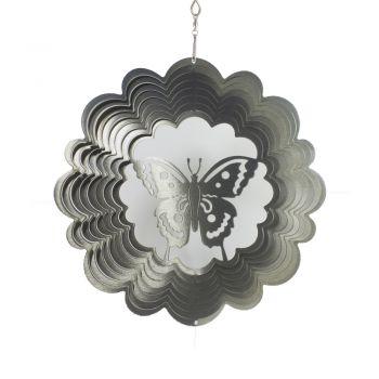 Windspiele Schmetterling Silber
